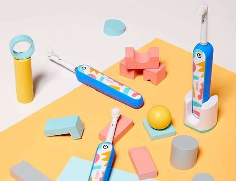 Geometric Artistry Electric Toothbrushes
