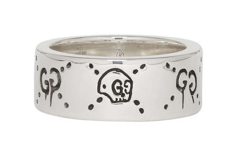 Logo-Accented Silver Rings