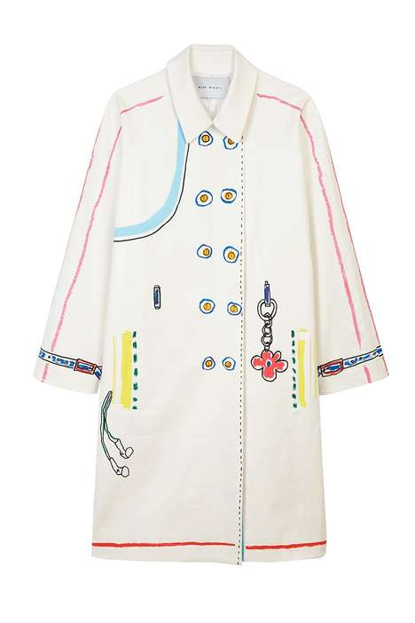 Scribbled Statement Outerwear