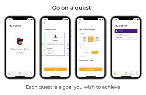 Adventurous Goal-Tracking Apps - The 'Questlii' App Turns Your Goals into an Interactive Game