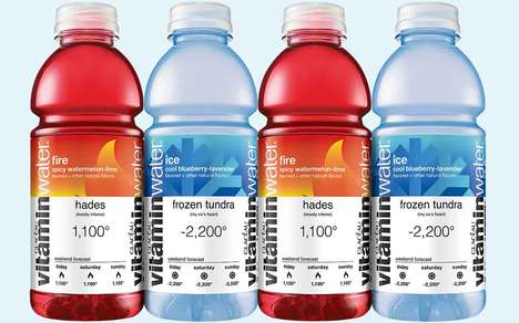 Temperature Extreme Refreshments - The New Vitaminwater Fire and Ice Drinks are Vitamin-Fortified