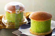 Matcha-Filled Pancake Sandwiches - 7-Eleven Japan's Stacked Dorayaki Has a Thick Matcha Cream Center
