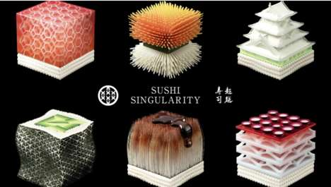 Biologically Derived 3D-Printed Sushi - Open Meals' Customized Sushi is Based on Biological Samples
