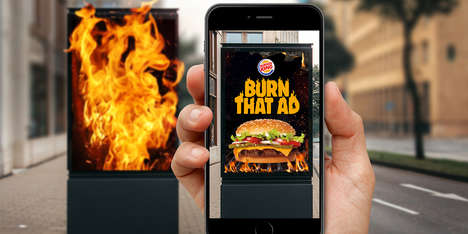 AR Ad-Destroying Apps - Burger King's 'Burn That Ad' Rewards Users for Destroying Competitors' Ads