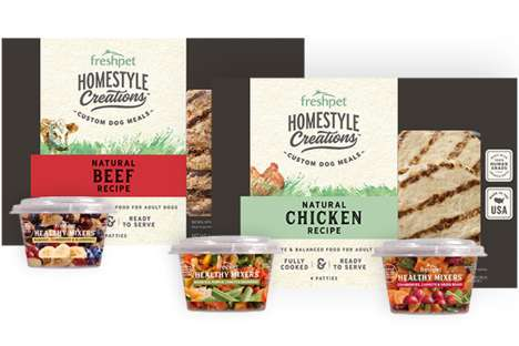 Customizable Pet Meals - Freshpet's Homestyle Creations Makes Balanced Meals with Protein & Veggies