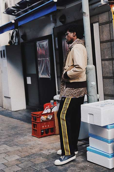 Elegantly Designed Track Pants - Nubian and NEEDLES Take Sportswear From a Formal Perspective