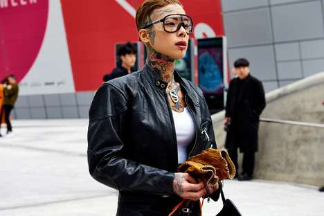 Fierce Streetwear Photography - The Street Photography for Seoul Fashion Week Showcases Edginess