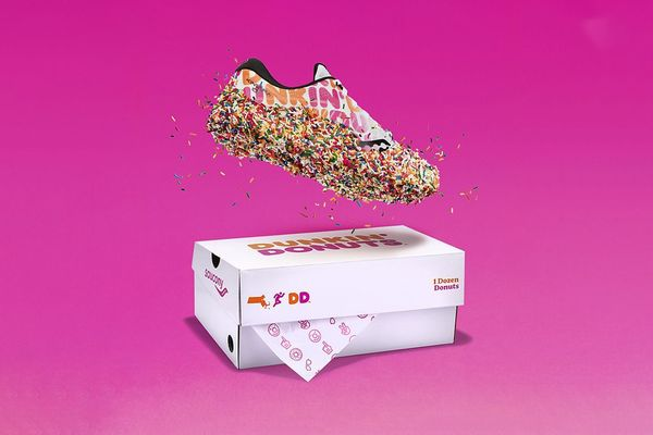 Branded Donut Sneakers - Dunkin' and Saucony Join Forces Once More for a Dessert-Inspired Design