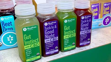 Functional CBD Shots - BluePrint Organic's Cold-Pressed Juice Shots Support Gut Health & Sleep