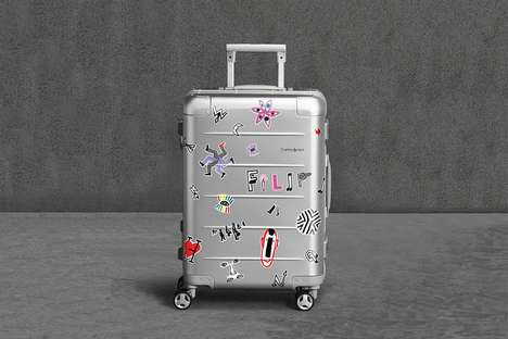Artist-Designed Metal Suitcases - Samsonite Relaunches the Xylem Suitcase With Filip Pagowski's Help