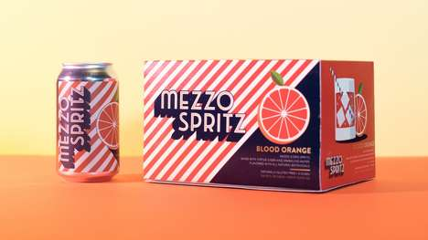 Zesty Low-ABV Spritzers - Mezzo Spritz is a Low-Alcohol Cider and Sparkling Water Drink