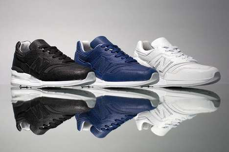 Pebbled Leather Tonal Sneakers - New Balance's Bison Collection Spotlights the 997 Sneaker Design