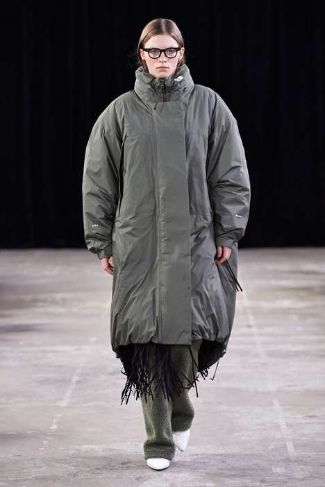 Outerwear-Heavy Runway Collabs - Hyke & The North Face Arrange a Stylish & Elegant Outerwear Runway