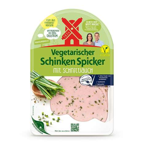 Vegetarian Deli Meat Alternatives - Rügenwalder Mühle's Vegetarian Hams and Salamis are Egg-Based