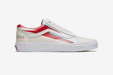 Icon-Inspired Glamorous Sneakers - Vans is Releasing a Footwear Line That Honors David Bowie