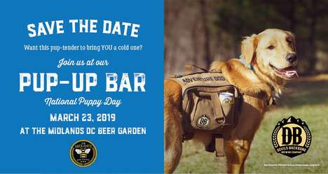 Pop-Up Puppy Bars - Devils Backbone Brewery's Hosted a 'Pup-Up Bar' on National Puppy Day