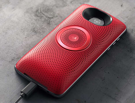 Clip-on Smartphone Speaker Units