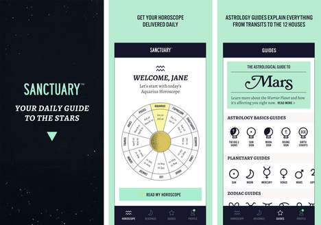 On-Demand Astrology Readings - The Sanctuary App Offers Astrology Services Aimed at Millennials
