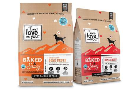 Bone Broth-Coated Dog Foods - 'I and love and you' Debuted 'Baked & Saucy' Grain-Free Pet Food