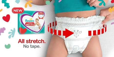 Flexible Waistband Diapers