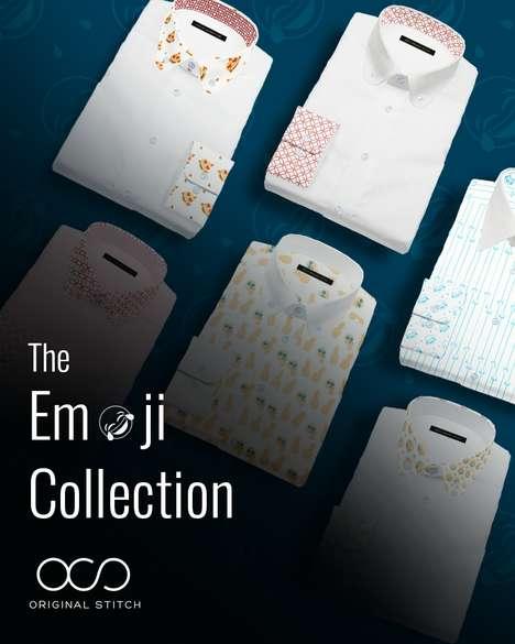 Expressive Emoji Dress Shirts