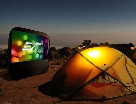 Outdoor Camper Projection Screens