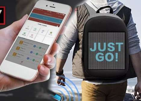 Digital Content Projection Backpacks