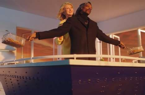Cheeky Movie-Inspired Commercials - Martha and Snoop Dogg Turn to the Titanic to Promote Their Show