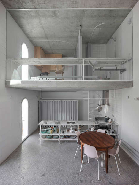 Industrial Pared-Back Apartments