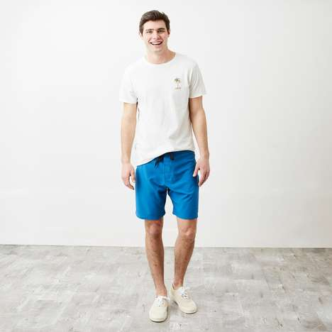 Soft Ocean-Blue Board Shorts - The Banks Primary Boardshorts are a High-Quality Summer Essential