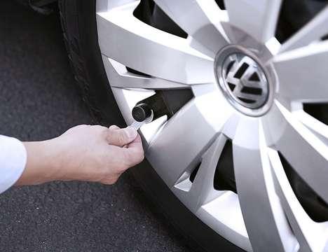 Self-Installation Vehicle Wheel Monitors