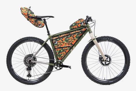 Chromatically Accented Outdoor Bikes