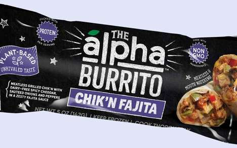 Plant-Based Frozen Burritos - The Alpha Burrito Chik'n Fajita is Mouthwateringly Meatless