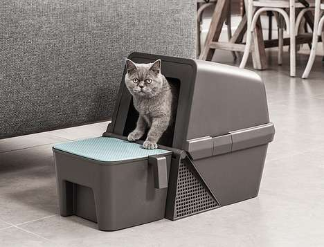 Flipping Self-Cleaning Litter Boxes - The 'Fresh Flip' Litter Box Eliminates the Need for Scooping