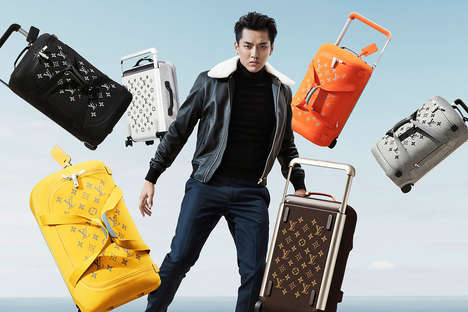 Luxe Monochromatic Soft Luggage - The Louis Vuitton Luggage Collection is Overseen by Marc Newton