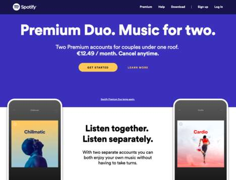 Couples-Friendly Music Subscriptions