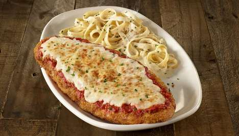 Supersized Chicken Parmesan Dishes