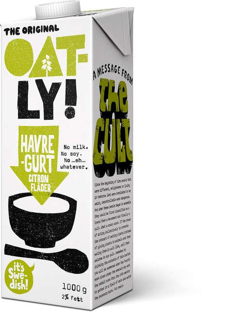 Drinkable Oat-Based Yogurts