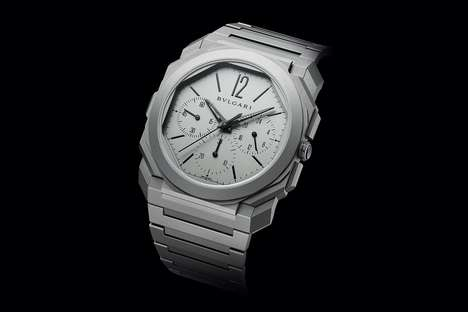 Thin Automatic Chronograph Watches - BVLGARI's Octo Finissimo Chronograph GMT Watch is the Thinnest