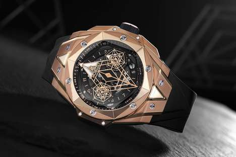 Geometric Interior Luxe Timepieces