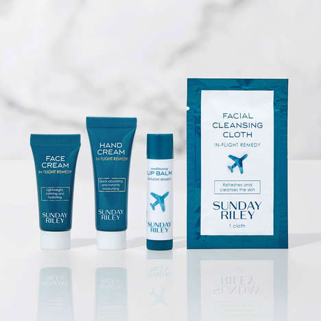 Luxury Skincare Amenity Kits - Sunday Riley and United Airlines Collaborated on Airline Amenity Kits