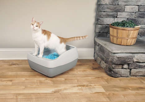 Crystal Litter Box Systems - PetSafe Created an Innovative Alternative to Regular Cat Litter Pans