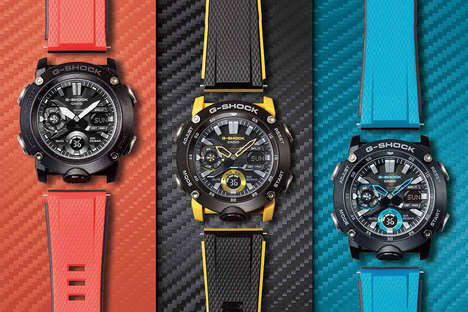 Colorful Carbon Fiber Timepieces
