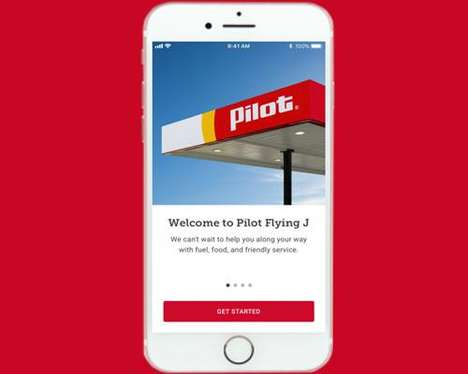 Driver-Targeted Travel Center Apps - The New Pilot Flying J Mobile App Offers Personalized Perks