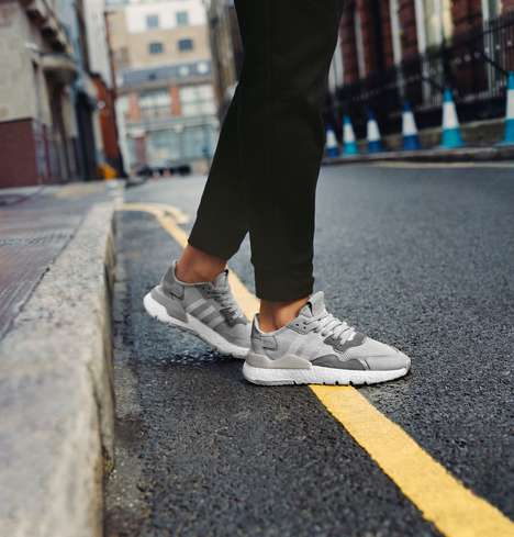 Reflective Road Running Sneakers - The adidas Nite Jogger Sneaker Boasts a Stylishly Slick Design