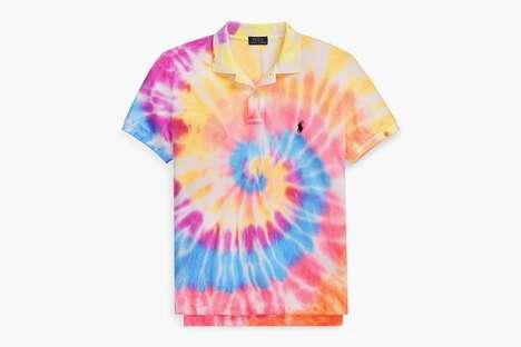 Vibrant Tie-Dye Preppy Fashion