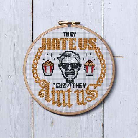 QSR Cross-Stitch Patterns - KFC is Selling Limited-Edition Craft Patterns on Etsy
