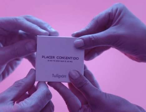 Consent-Focused Condom Packaging - Tulipán's Free Condoms Can Only Be Open by Two People