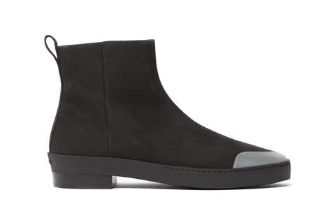Nubuck Leather Chelsea Boots