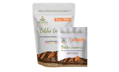 Hemp Oil-Infused Candies - The Restorative Botanicals CBD-Infused Bolder Gummies are Tasty